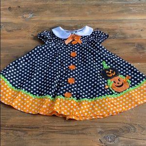 Bonnie Jean Embroidered Toddler Halloween Dress